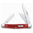 Dark Red Bone CV medium stockman knife - Medium stockman knife, clip, pen and sheepfoot blades.