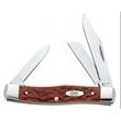 Chestnut Bone CV Medium Stockman Knife - Medium stockman knife, clip, sheepfoot and pen blades.