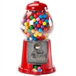 """Gumball Machine 11 inch Empty - Empty 11"""" coin operated gumball machine with metal and glass design."""