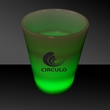 2 oz. Neon-Look Shot Glass with Built-In Green LED Lights - Neon-look 2 oz. opaque white shot glass with green LED lights.