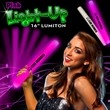 "16"" Pink LED Glow Light Up Foam Lumiton Baton - 16"" Pink Light Up LED Cheering Wand soft foam baton."