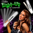 "16"" White LED Light Up Foam Glow Lumiton Baton"