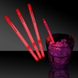 """Red 5"""" Single Color Light Up Glow Swizzle Stick"""