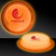 """Orange 3"""" Self-Adhering Circle Shaped Light Up Glow Badge - Orange 3"""" Self-Adhering circle shaped Light Up glow badge."""
