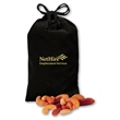 Deluxe Mixed Nuts in Black Velour Pouch - black velour pouch filled with deluxe mixed nuts