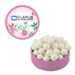 Small Breast Cancer Awareness Pink Snap Top Tin With Mints
