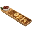 Bamboo Snack Set - Bamboo snack set with ceramic dip bowl.