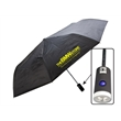 """42"""" LED Umbrella - Black folding umbrella with 42"""" arc and built-in LED light in the handle"""
