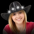 Black Sequin Light Up Cowboy Hat - Black Sequin Light Up Cowboy Hat