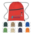 Non-Woven Hit Sports Pack With Front Zipper - Sports pack made of 80 gram non-woven, coated water resistant polypropylene.