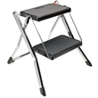 2-Step Mini-Stool Ladder Polder - 2 Step Stool features all-steel construction, with durable, nonskid black plastic mats on its 12-by-8-inch steps. Step up to the t