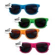 Speech Bubble Sunglasses - Plastic sunglasses with UV400 protection and imprinted speech bubbles.
