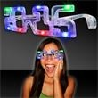 2015 LED Eyeglasses  - Clear plastic led eyeglasses in the shape of 2015 to celebrate the brand new year that feature bright multi color LEDs throughout.