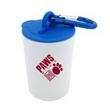 Trash Can Pet Bag Dispenser - 1 Color Imprint - Pet waste bag dispenser with a carabiner attachment and 20 poly bags included.