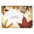 Autumn Berries and Leaves Holiday Card - A traditional wish for thanks to send family, friends and associates depicting warm autumn leaves & berries at rest.