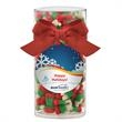 Large Gift Tube with Reindeer Candy Corn - Large Gift Tube with Reindeer Candy Corn.