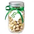 Glass Mason Jar with pistachios -