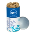 Mini Chocolate Chip Cookies in Small Snack Tube - Small snack tube filled with 4.3 oz. of mini chocolate chip cookies; includes 4-color process body wrap.