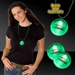 """Green 2"""" Lighted LED Badges with attached J-Hook medallion"""
