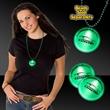 "2"" Light Up Green Badge Medallion with  J-Hook - Green 2"" LED lighted badge medallion with j-hook attachment."