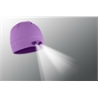POWERCAP LED Lighted Beanie Hats (Orchid) - Black 100% Compression Fleece, blank