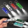 Silver & Green LED Flashlight Keychain