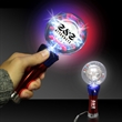 Patriotic Spinner Light Up Glow LED Wand - Patriotic red, white and blue light-up Glow spinner wand.
