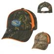 Realtree (TM) and Mossy Oak (R) Blaze Camouflage Cap - Camouflage six panel cap with pre-curved visor.