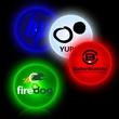 Circle Shape Flashing LED Light Up Glow Button - Circle shape flashing LED light up glow button with Tie-Tack backing