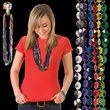 """Diamond Beads - 33"""" diamond beads mardi gras necklace, comes in assorted colors, blank."""