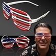 Patriotic Slotted Glasses - USA flag designed slotted sunglasses made of plastic.