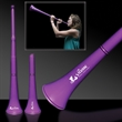 "Purple Collapsible Stadium Horn - 28"" purple plastic stadium horn that collapse down to 15"""