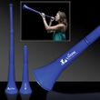 "Blue Collapsible Stadium Horn - 28"" blue plastic stadium horn that collapse down to 15"""