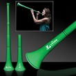 "Green Collapsible Stadium Horn - 28"" green plastic stadium horn that collapse down to 15"""