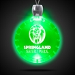 Bottle Cap Green Light-Up Acrylic Pendant Necklace