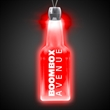 "Bottle Red Light-Up Acrylic Pendant Necklace - High quality, bottle shape red light-up acrylic pendant on a 24"" necklace."