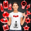 Red Light-Up LED Acrylic Pendant Necklace