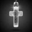 Cross White Light-Up LED Acrylic Pendant Necklace