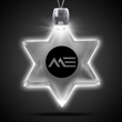 Star of David White Light-Up Acrylic Pendant Necklace