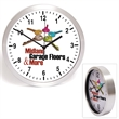 """10""""  Brushed Metal Wall Clock with Glass Lens"""