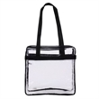 Transparent Stadium Zippered Tote - Transparent stadium zippered tote.