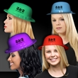Assorted Color Plastic Derby Hats - Plastic derby hats in assorted colors.