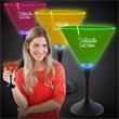 Neon LED Martini Glasses  - Go for a brighter promotion with our Neon LED Martini Glasses that feature neon tops and black stems with bright blue LED.
