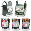 Jackpot Slot Machine Dispenser with Gumballs - Slot machine dispenser filled with gumballs.