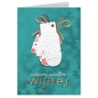 Warm Winter Wishes Greeting Card with Mitten