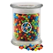 Mini Jawbreakers Candy in a Large Round Glass Jar with Lid