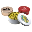 """Chocolate Tennis Balls in a Round Tin with Lid-7.25"""" D"""