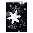 Joy Holiday Greeting Card with Snowflake