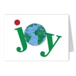 Joy Holiday Greeting Card with Earth