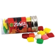 """Mini Chicklets Gum in a 3 """" Plastic Tube with Metal Cap"""